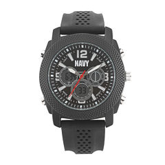 Wrist Armor® C21 Mens US Navy Rubber Strap Chronograph Watch