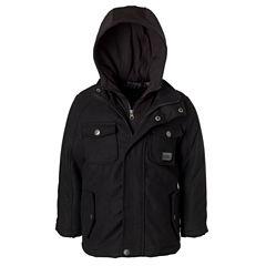 Wool Jacket with Fleece Hood - Boys Preschool