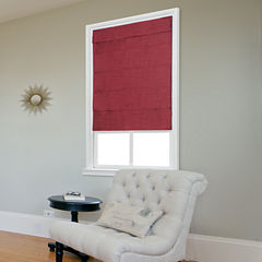 JCPenney Home Fauxsilk Large Fold Custom Cordless Roman Shade