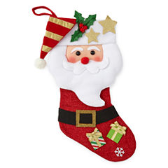 North Pole Trading Co. Christmas Cheer Santa Christmas Stocking