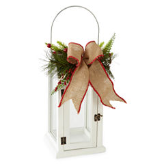 North Pole Trading Co. Nordic Frost Nordic Frost White Wood Decorative Lantern