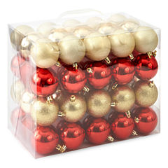 North Pole Trading Co. Winter Lodge Shatterproof Red & Gold 60-pc. Christmas Ornament