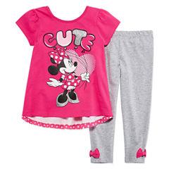 Disney by Okie Dokie 2-pc. Minnie Mouse Legging Set-Toddler Girls