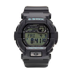 Casio® G-Shock Mens Black and Blue Auto LED Strap Watch GD350-1C