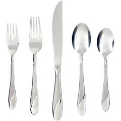 Cambridge® Silversmith Swirl Sand 65-pc. Flatware Set