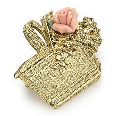 1928® Jewelry Rose Basket Gold-Tone Pin