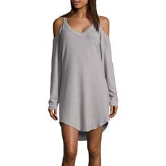 Ambrielle Long Sleeve Cold Shoulder Nightshirt