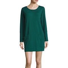 Liz Claiborne Thermal Long Sleeve Nightshirt