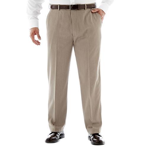 Stafford® Travel Endurance Flat-Front Pants–Big & Tall