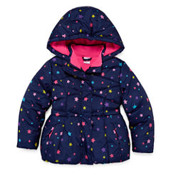Okie Dokie Heavyweight Star Puffer Jacket - Girls-Toddler