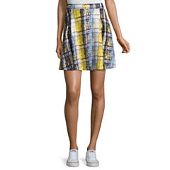 Project Runway Pleated Scuba Skater Skirt