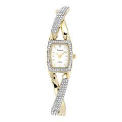 Armitron® Now® Womens Two-Tone Crisscross Bangle Watch