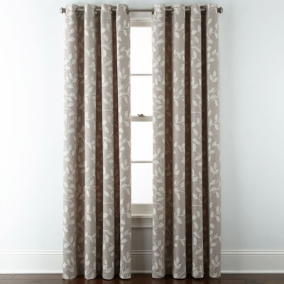 Beautiful JCPenney Home™ Quinn Leaf Grommet Top Curtain Panel