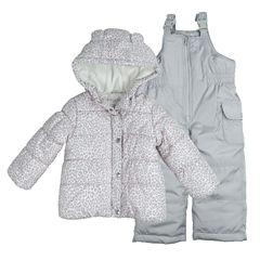 Carter's Heavyweight Leopard Snow Suit-Toddler Girls