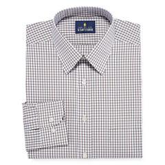 Stafford Comfort Stretch Broadcloth Long Sleeve Dress Shirt