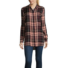 i jeans by Buffalo Plaid Long Sleeve Tunic Top