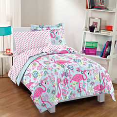 Dream Factory Flamingo Comforter Set
