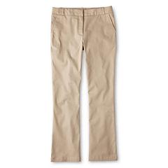 IZOD® Stretch Twill Regular Fit Boot-Cut Pants - Girls 7-16,