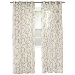 Cambridge Home Andrea Embroidered Grommet-Top Curtain Panel