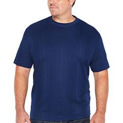 Claiborne Short Sleeve Drop Needle Tee-Big and Tall