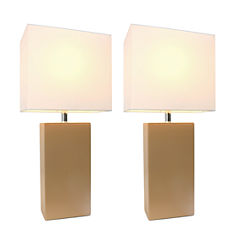 Elegant Designs 2-pc. Lamp Set