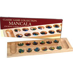Deluxe Mancala W Colored Glass Beads