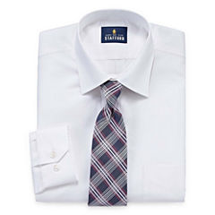 Stafford Stafford Travel Easy-Care Dress Shirt & Tie Set Shirt + Tie Set