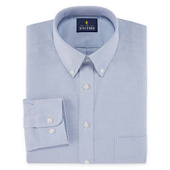 Stafford Travel Wrinkle-Free Stretch Oxford Long-Sleeve Dress Shirt - Big and Tall