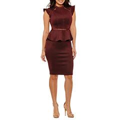 Bisou Bisou Short Sleeve Peplum Dress