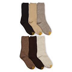 GoldToe® 6-pk. Ribbed Crew Socks