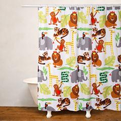 Crayola Jungle Love No Liner Shower Curtain