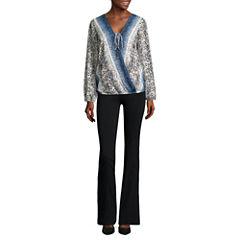 Alyx® Long-Sleeve Wrap-Front Woven Top or Straight-Leg Millennium Pants