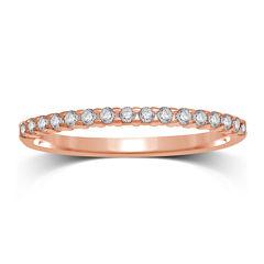 1/7 CT. T.W. Diamond 10K Rose Gold Band Ring