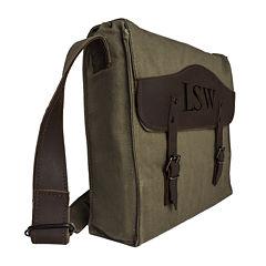 Personalized Canvas Messenger Bag