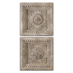 Set of 2 Auronzo Square Wall Hangings