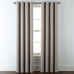 JCPenney HomeTM Quinn Lattice Grommet Top Curtain Panel
