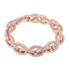 Worthington® Pavé-Set Crystal Rose-Tone Stretch Bracelet