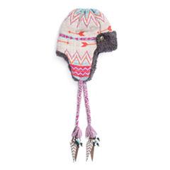 Muk Luks Free Fairisle Faux Fur Trim Trapper Hat