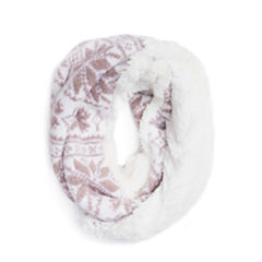 Muk Luks Snowflake Loop Pattern Cold Weather Scarf