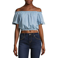 Us Polo Assn. Off Shoulder Crop Top-Juniors