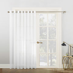 Sun Zero Emily Patio Sheer Grommet-Top Patio Door Curtain