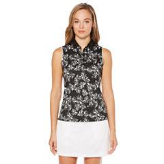 PGA TOUR Easy Care Sleeveless Floral Polo Shirt