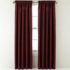 Sutton Place Antique Satin Rod-Pocket Curtain Panel