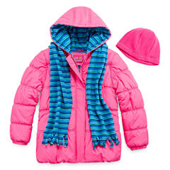 Pink Platinum Heavyweight Puffer Jacket - Girls-Preschool