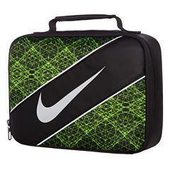 Nike® CLASSIC - BLACK/VOLT PRINT Lunch Box