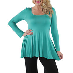 24/7 Comfort Apparel Less Is More Tunic Top Plus