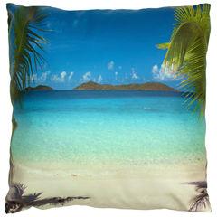 Oriental Furniture Caribbean Beach Throw Pillow