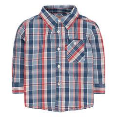 Levi'sLong Sleeve Button-Front Shirt Boys