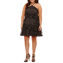 Speechless Sleeveless Party Dress-Juniors Plus