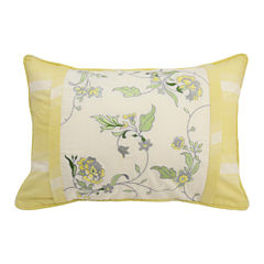 Waverly Paisley Verveine Embroidered Oblong Decorative Pillow